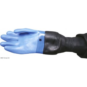 Nordic Blue Dry gloves with latex conical wrist seal loose inner
