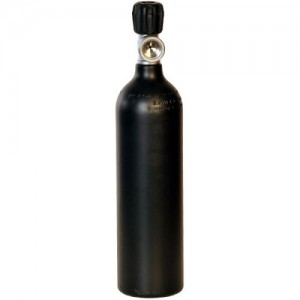 ALU Cylinder 0,85 litre, 200 bar, Diving Breathing Gas, Mono Valve G5/8