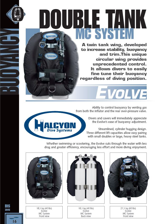 Halcyon evolve twin set wing system bestseller - Halcyon dive gear ...